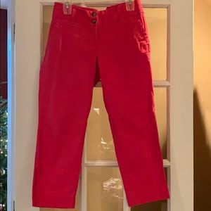 Lands End Raspberry Pink Cropped Pants